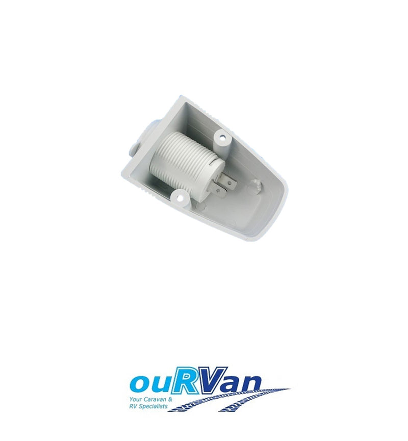 NARVA WHITE SURFACE MOUNT ACCESSORY SOCKET 81025WBL