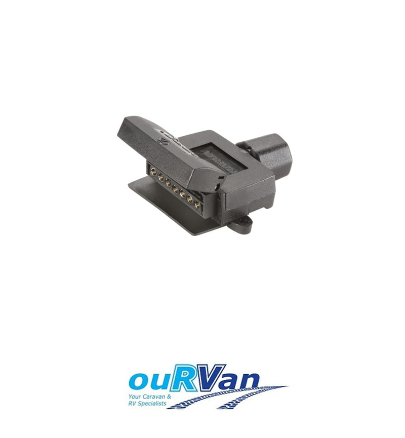 7 PIN FLAT SOCKET - PLASTIC