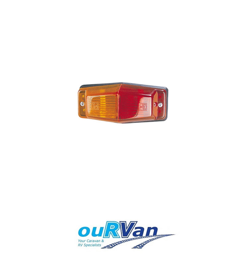 NARVA CLEARANCE LAMP RED AMBER 125MM X 55MM X 40MM 85750 CARAVAN