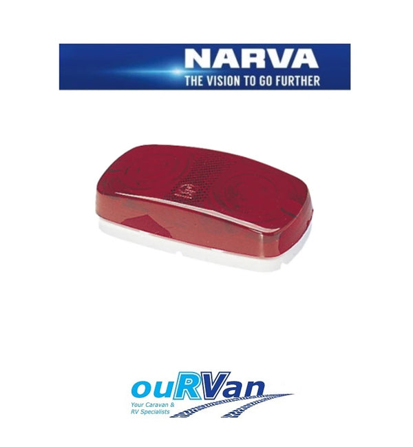 NARVA 86330 CARAVAN CAMPER REAR END OUTLINE LAMP LIGHT JAYCO WINDSOR RED