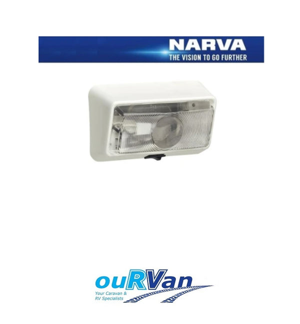 NARVA 86830 CARAVAN CAMPER SQUARE PORCH LIGHT W/SWITCH GENUINE JAYCO WINDSOR