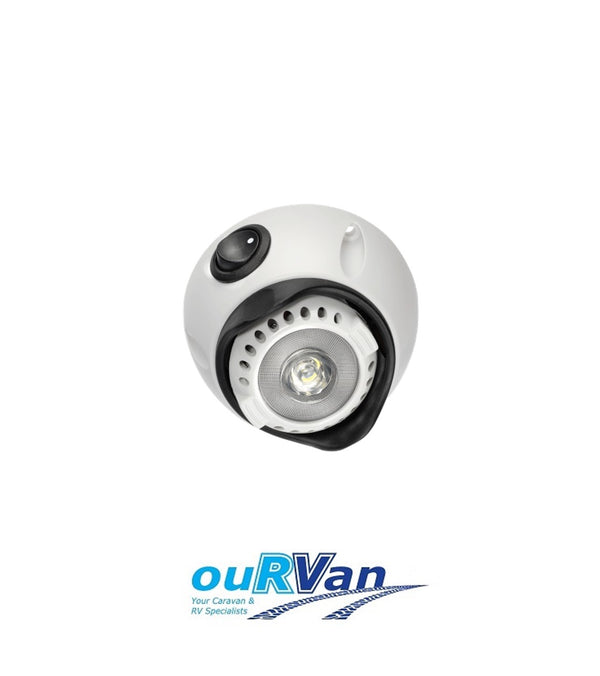 NARVA 10-30V LED INTERIOR SWIVEL LIGHT WITH ON/OFF SWITCH