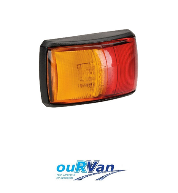 NARVA 10–33 VOLT MODEL 14 L.E.D SIDE MARKER LAMP (RED/AMBER)  91402BL