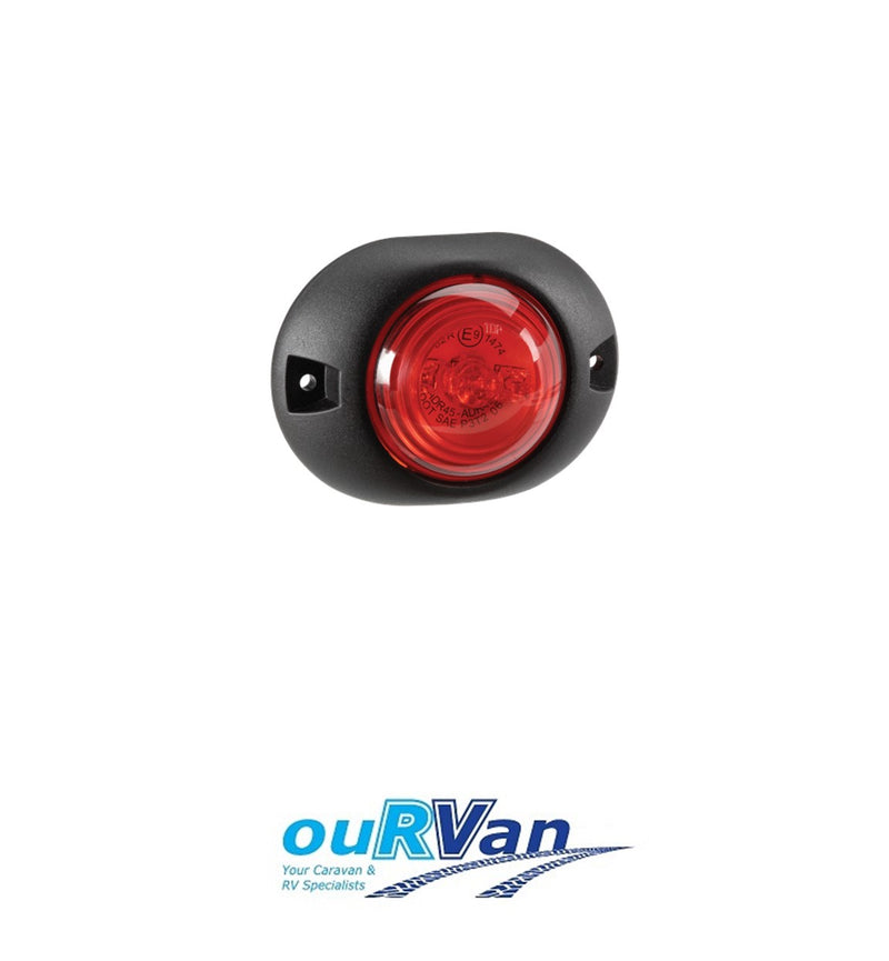 NARVA 9-33V LED REAR END OUTLINE MARKER LAMP LIGHT RED 93138 CARAVAN TRAILER