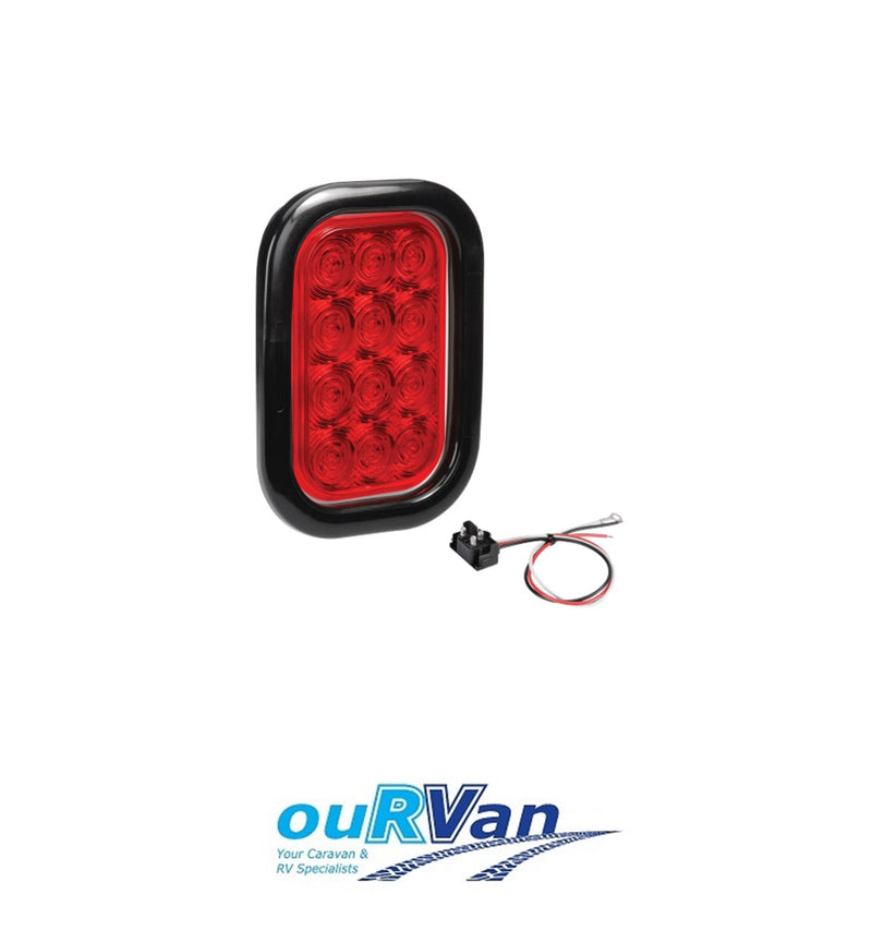 9–33 VOLT L.E.D REAR STOP/TAIL LAMP (RED)