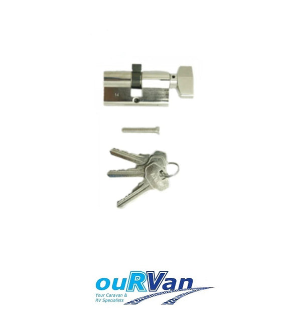 AUSSIE TRAVELLER CARAVAN DOOR LOCK BARREL & KEYS SUITS LHH 95500000015000
