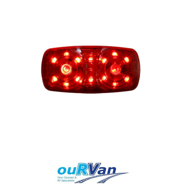 AP AUTO LAMPS REAR END OUTLINE MARKER LAMP RED AP11011 CARAVAN TRAILER AP01R