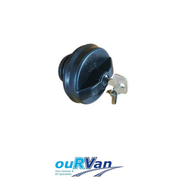 HUME WATER TANK FILLER CAP SCREW ON BLACK LOCKING CARAVAN CAMPER CPC BLKLC