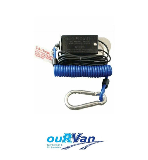 BREAKSAFE SWITCH WITH COIL CABLE FOR BREAKAWAY 6000 - CARAVAN RV TRAILER 5000