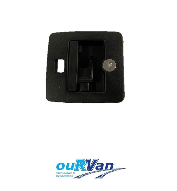 CAMPER DOOR LOCK SET BLACK (PRE 2013) C8513U