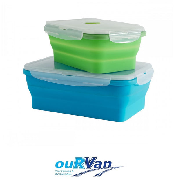 SET OF 2 COLLAPSIBLE RECTANGLE CONTAINERS CLP21