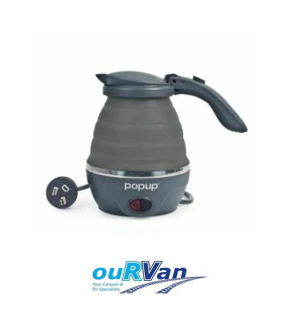 COMPANION 240V COMPACT POP UP BILLY KETTLE - GREY COMP10434GY CARAVAN MOTORHOME