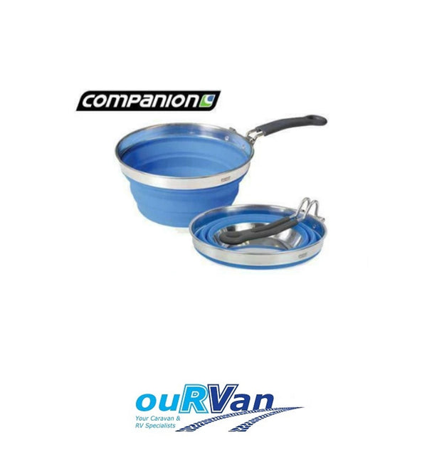 COMPANION POP UP SAUCEPAN BLUE 1.5L CAMPING CARAVAN RV MOTORHOME COMP350BL
