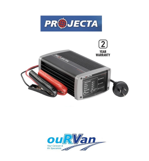 PROJECTA IC1000 12V BATTERY CHARGER POWER SUPPLY 10AMP 7 STAGE MULTI CHEMISTRY