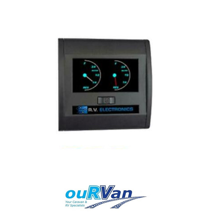RV ELECTRONICS DOUBLE WATER TANK GAUGE LEVEL INDICATOR CARAVAN CAMPER LCD0196T