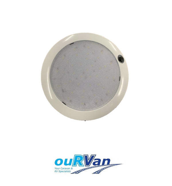 LED LIGHT ROUND WHITE WITH SWITCH 180MM LED180WS