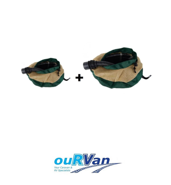 CARAVAN HOSE BAG TWIN PACK - 1 X LARGE PLUS 1 X SMALL CARAVAN HOSE BAG SAVE!