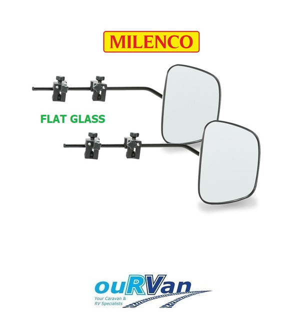 MILENCO GRAND AERO 3 EXTRA WIDE FLAT GLASS CARAVAN TOWING MIRROR M-2073