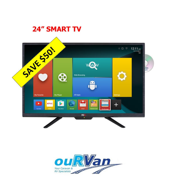 "NCE 24"" Smart LED LCD TV/DVD Combo 12VDC (Bluetooth)"
