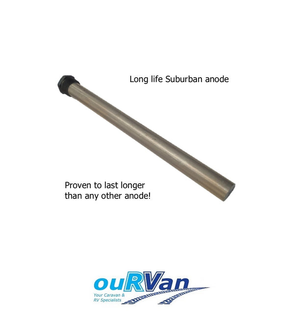 LONG LIFE SUBURBAN HOT WATER SERVICE ANODE ROD 50% MORE ANODE WITH GENUINE NPT THREAD