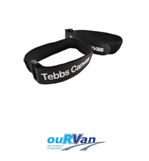 TEBBS AWNING SAFETY TRAVEL STRAPS PAIR CARAVAN MOTORHOME CAREFREE DOMETIC ATRV
