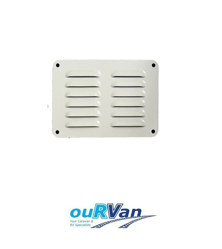 100MM X 150MM ALUMINIUM FLUTED VENT - BRIGHT WHITE