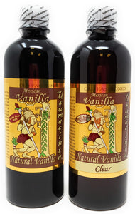 Holiday Gift Set:  Usumacinta Pure Vanilla 16.8 Ounces Amber and Clear