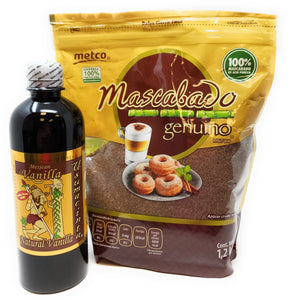 Holiday Baking Gift Set:  Usumacinta Pure Vanilla and Metco Mascabado Sugar