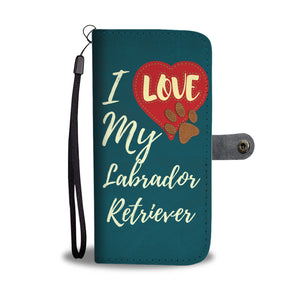 Love Labrador Wallet Case