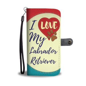 Love Labrador - Beige Wallet Case