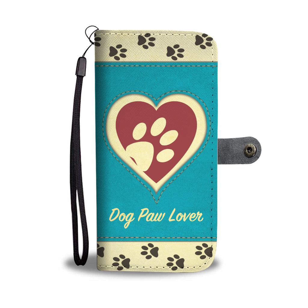 Dog Paw Lover - Turquoise Wallet Case
