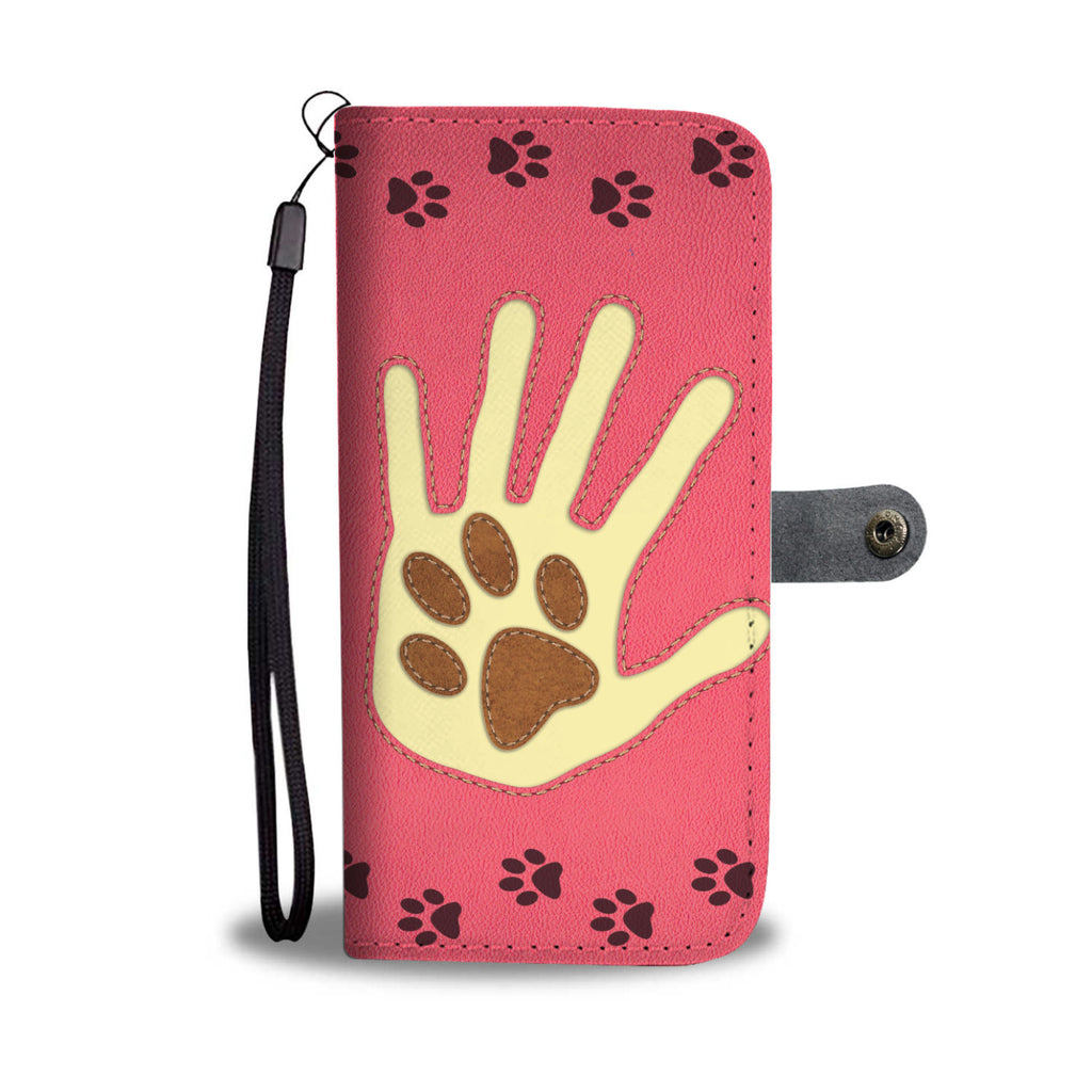 Dog Paw in Hand - Wallet Case