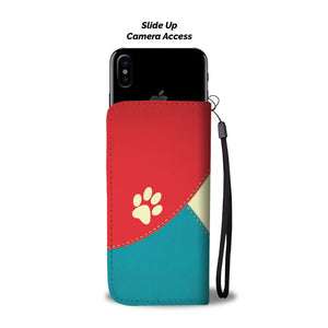 Personalized Wallet Phone Case Template 1 - Dog Paw Lovers