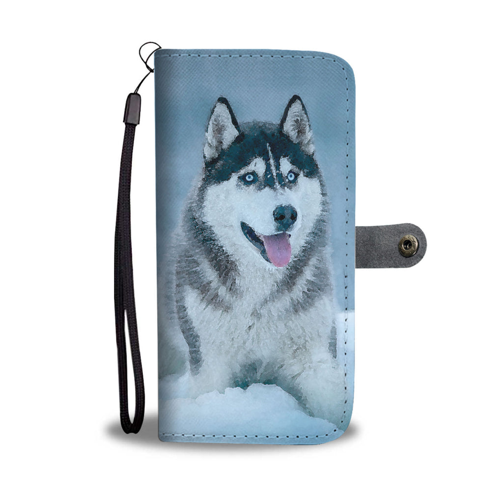 Husky Wallet Case - Dog Paw Lovers