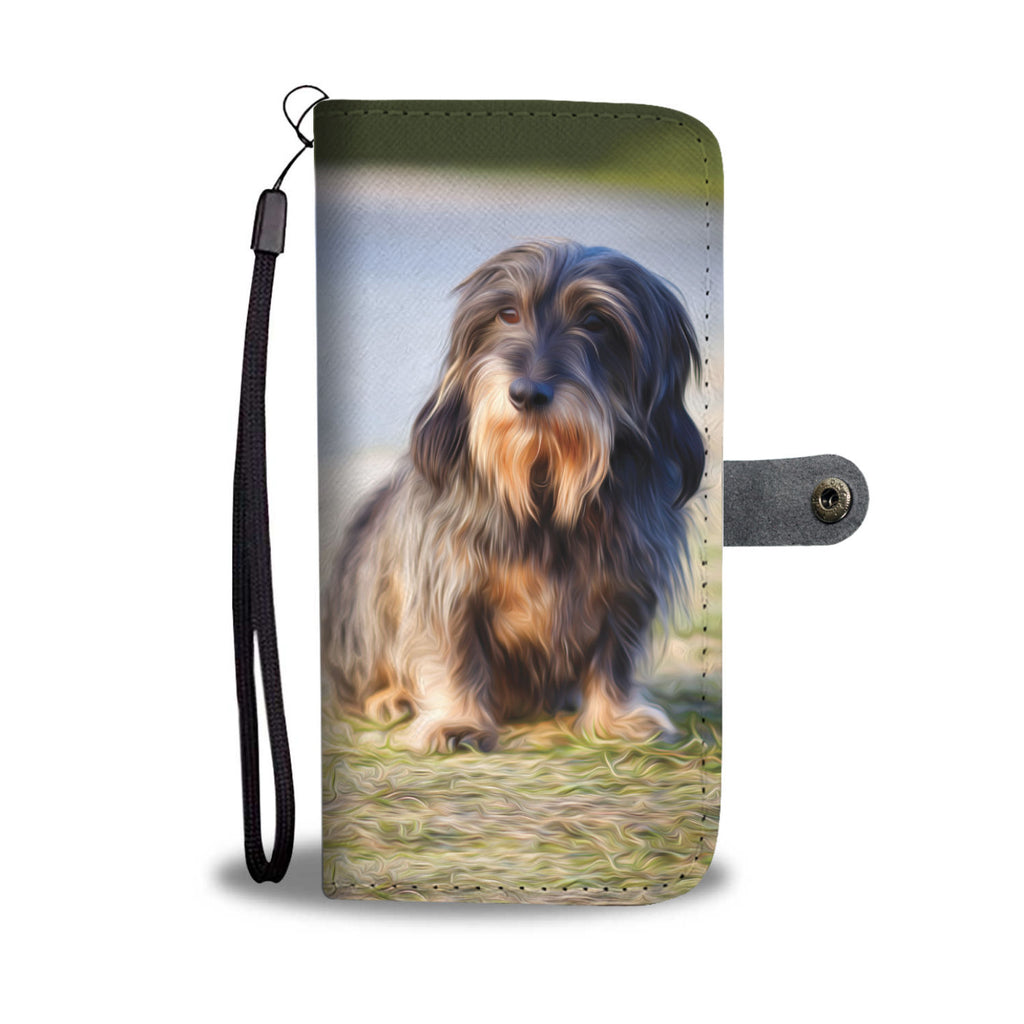 Dachshund Wallet Case - Dog Paw Lovers