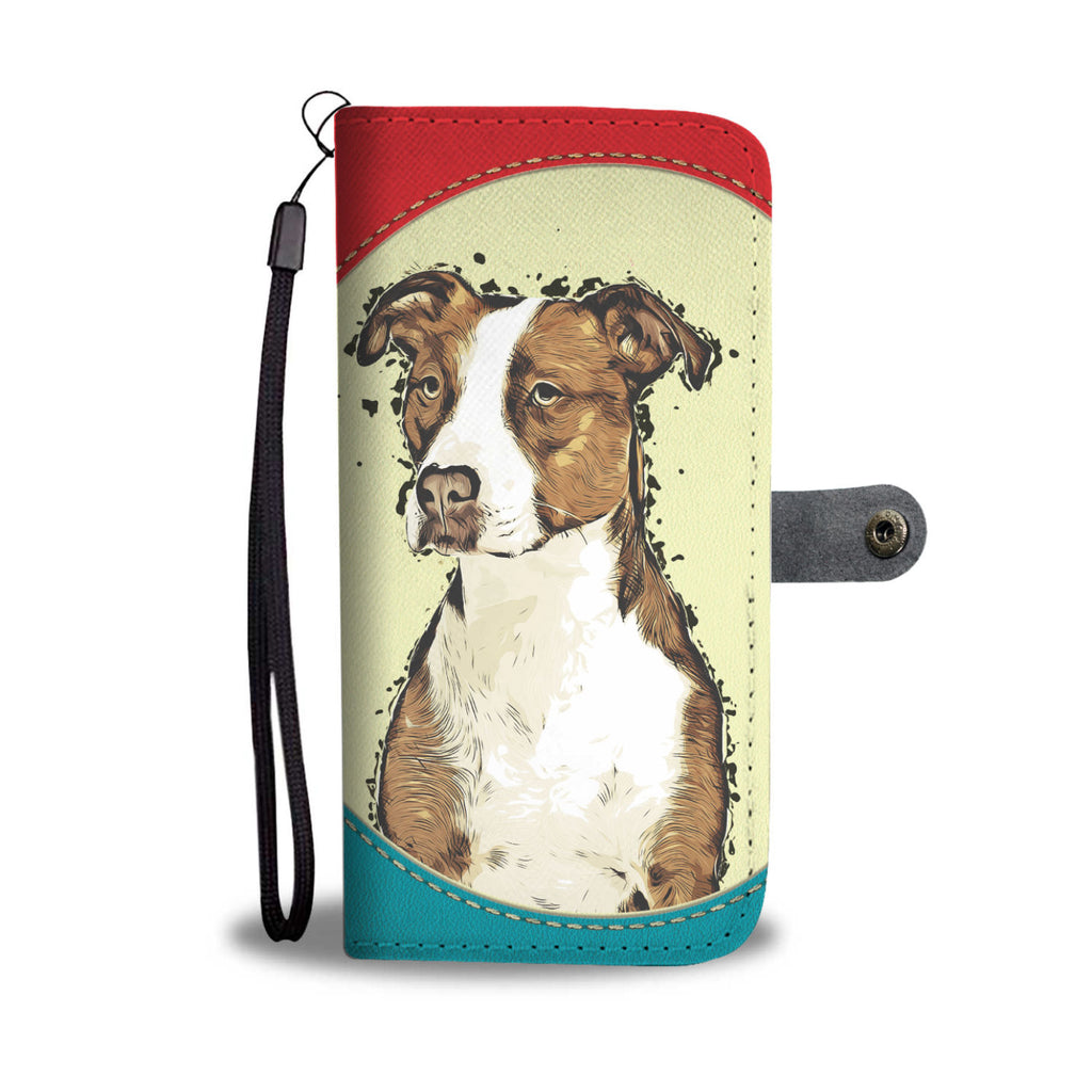 Pitbull Wallet Case - Dog Paw Lovers