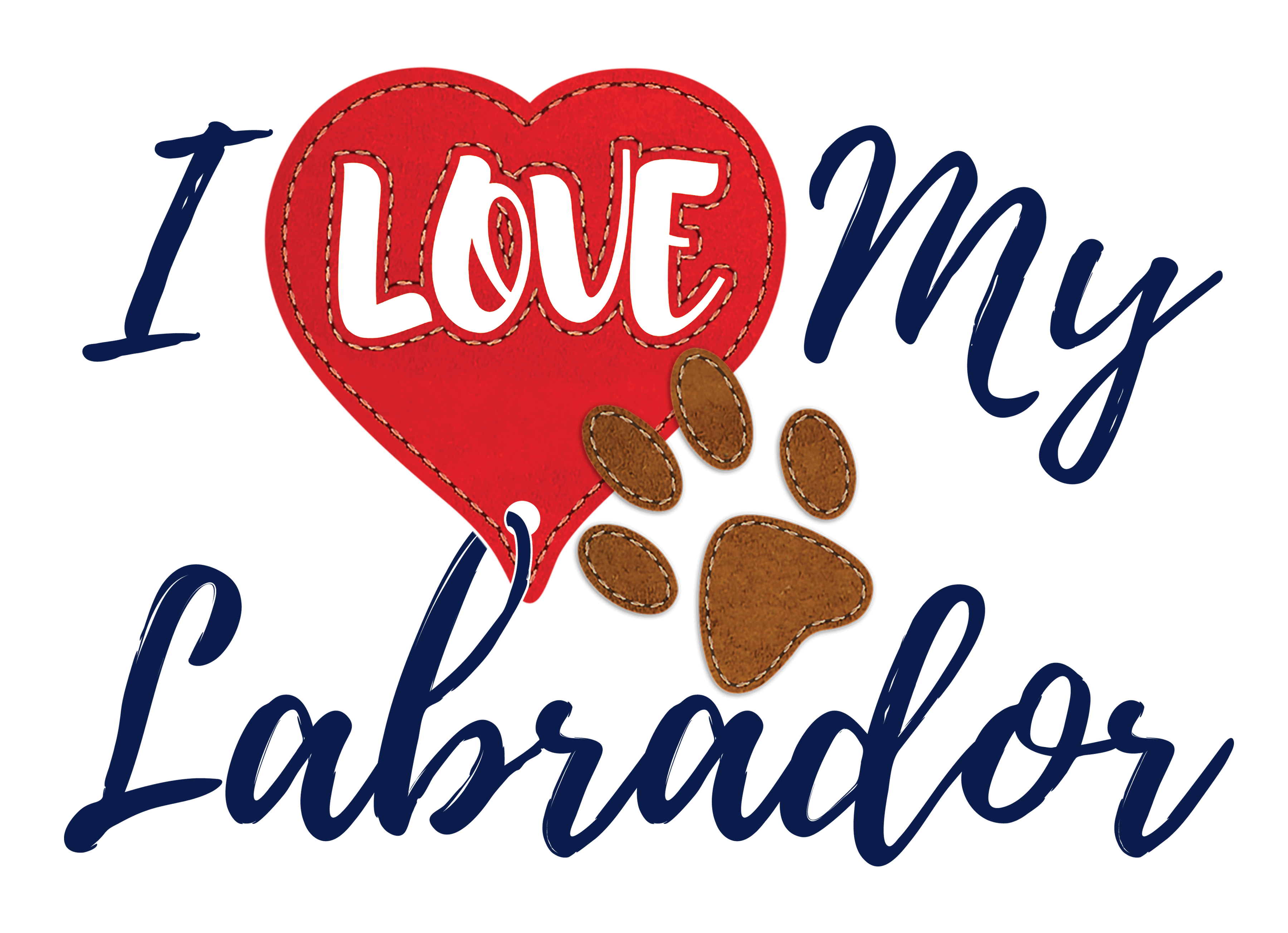 I Love My Labrador - Unisex T-Shirt - Dog Paw Lovers