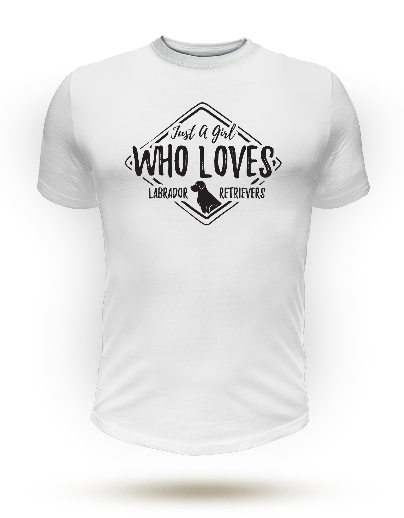 Just a Girl Who Loves Labrador Retrievers - T-Shirt - Dog Paw Lovers