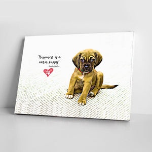 Puppy Canvas - Dog Paw Lovers