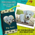 Personalized Wallet Phone Case Template 2 - Dog Paw Lovers
