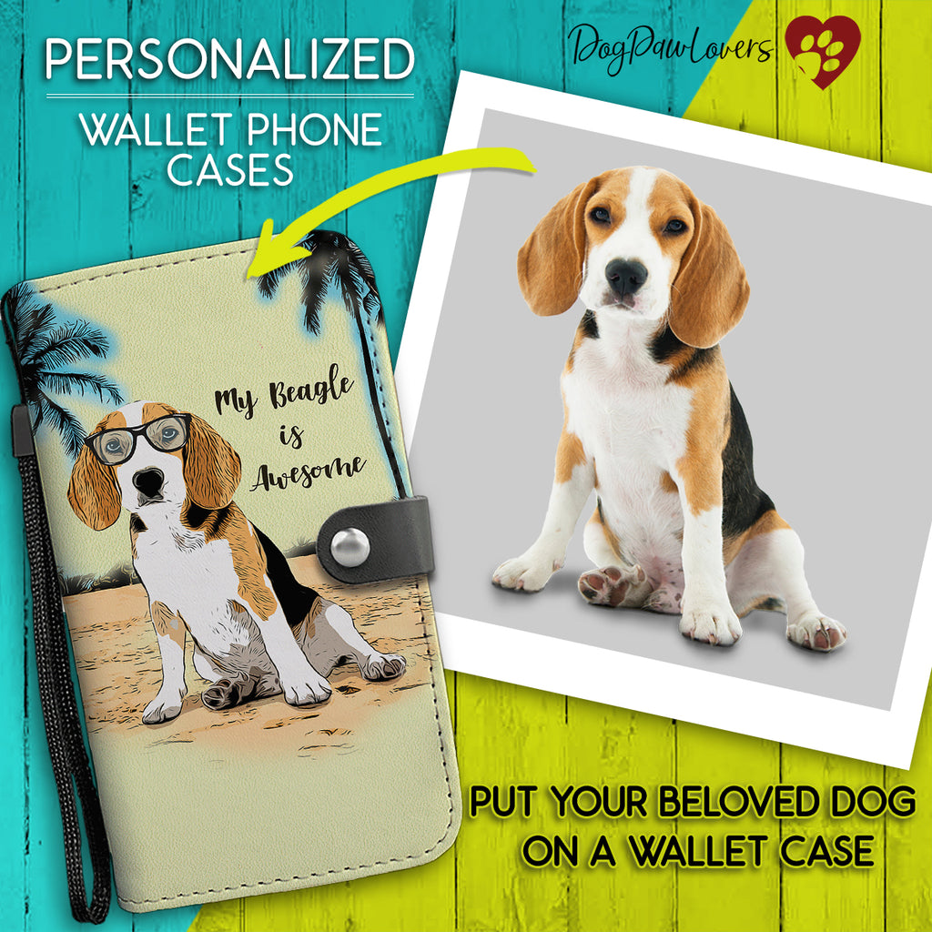Personalized Wallet Phone Case Cartoon Style Template - Dog Paw Lovers