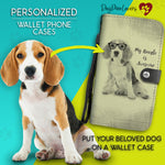 Personalized Wallet Phone Case Pencil Drawing Template
