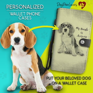 Personalized Wallet Phone Case Pencil Drawing Template - Dog Paw Lovers