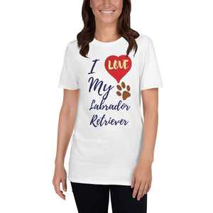 Love Labrador - White Unisex T-Shirt - Dog Paw Lovers
