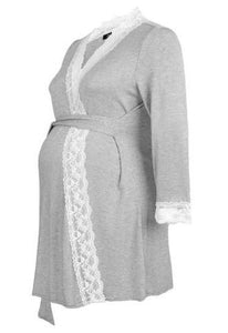 100% Cotton Maternity Delivery Nursing Robes
