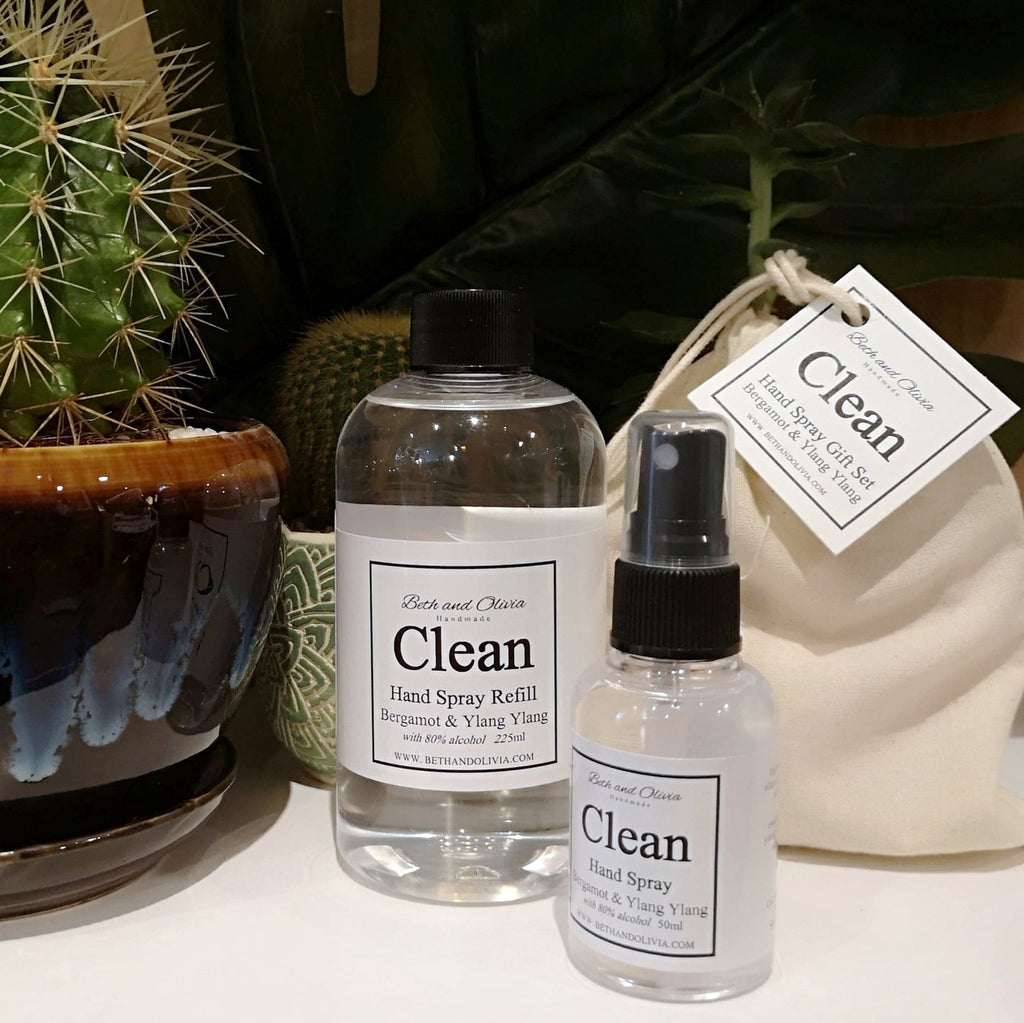 Beth + Olivia - CLEAN HAND SPRAY REFILL WITH BERGAMOT & YLANG YLANG GIFT SET