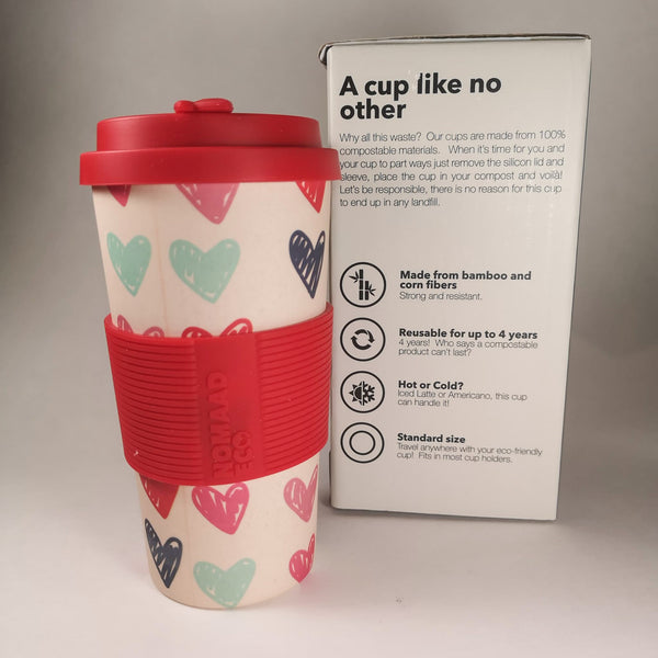 NOMAAD ECO Travel Mug - Hearts