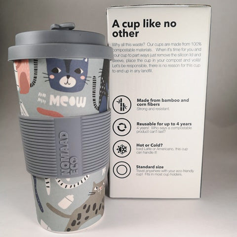 NOMAAD ECO Travel Mug - Cats Meow