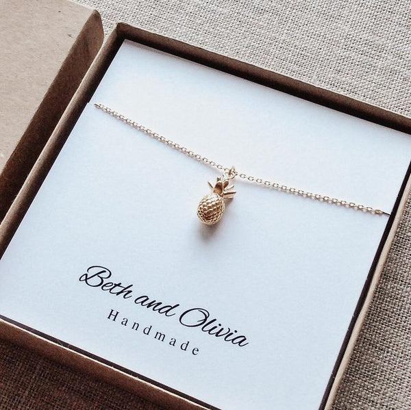 Beth + Olivia - GOLD PINEAPPLE NECKLACE