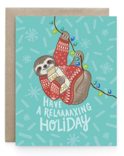 Art+Soul - Holiday Sloth Card